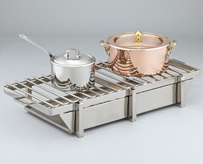 2 Pan Grill Station with Square Legs