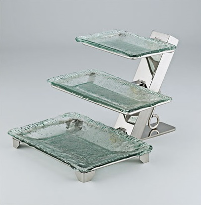 3 Tiered Glass Platter Stand