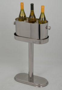3 Bottles Oval Wine Cooler and Stand