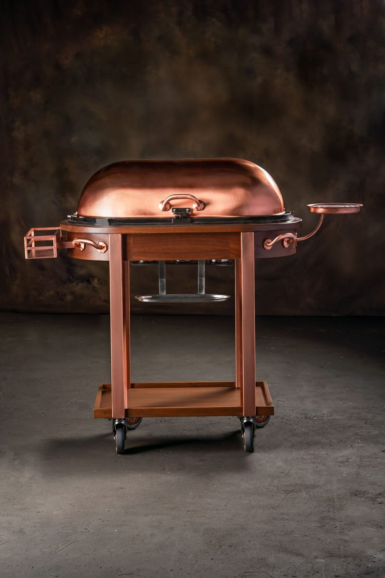 Copper Satin  Carving Trolley