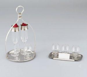 Glass holder and Brandy Taster