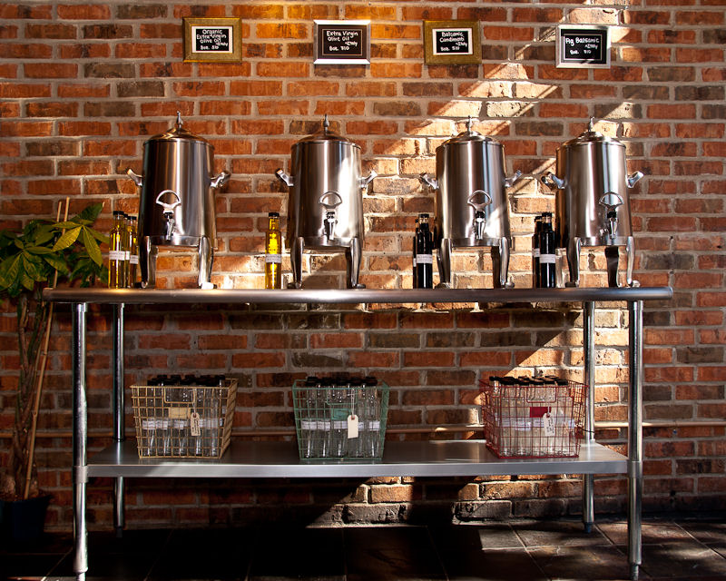 Olive Oil Station with Insulated Urns
