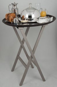 Tray Stand and Leather Tray
